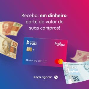 Banner convidando para solicitar o cartão Méliuz