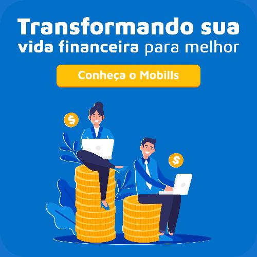 Banner Mobills, plataforma de gestão de finanças pessoais