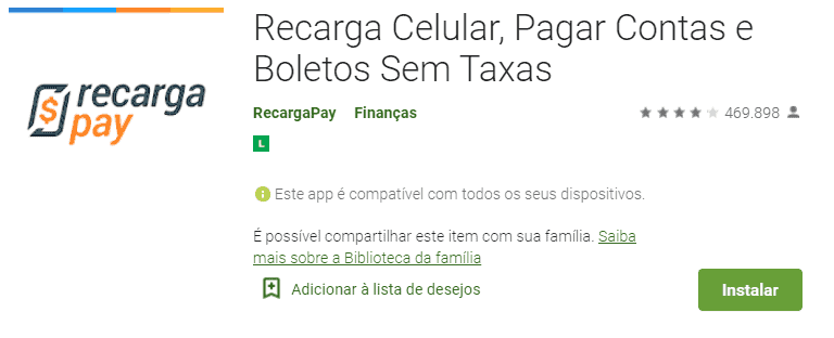 box do recarga pay na google play.
