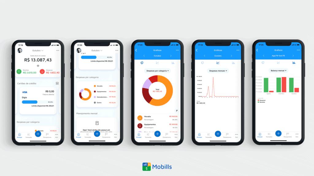 Imagem representando o controle de gastos no Mobills