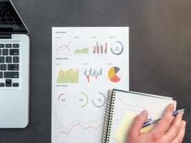 Imagem com gráficos representando Investimentos no Mobills