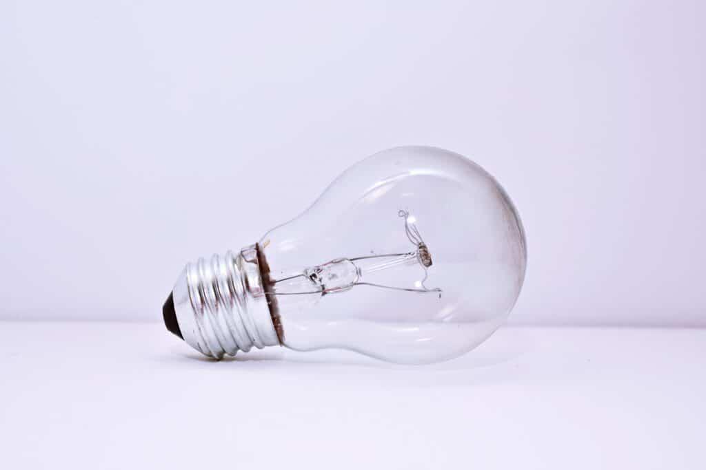 Imagem de uma lâmpada apagada