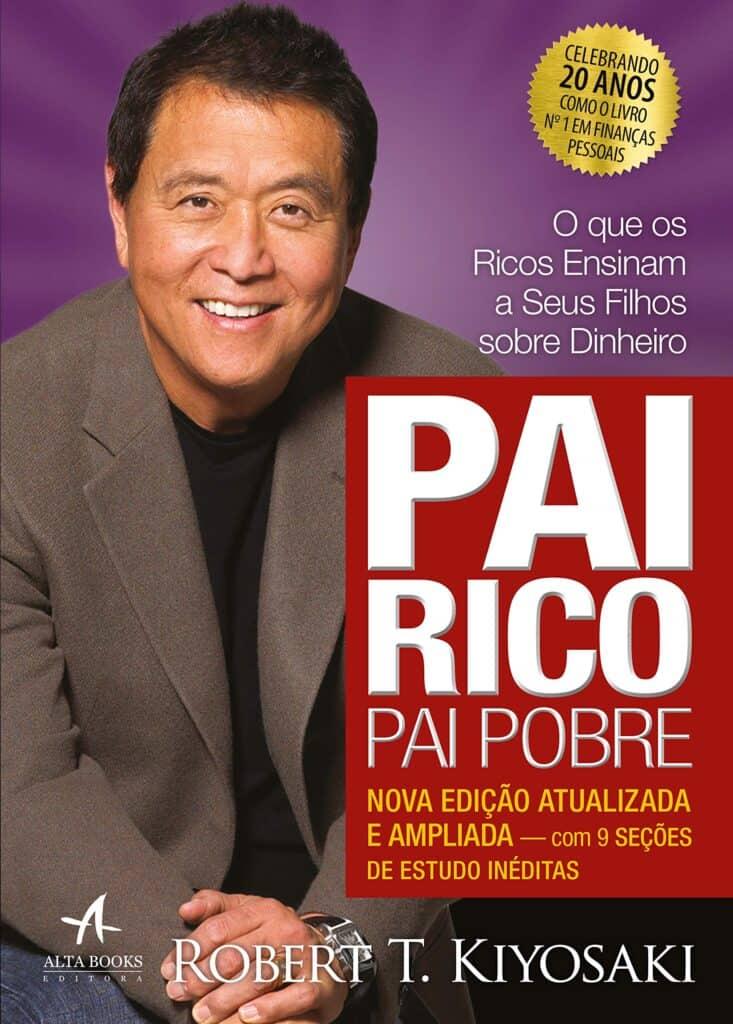 Livro de educação financeira Pai Rico Pai Pobre