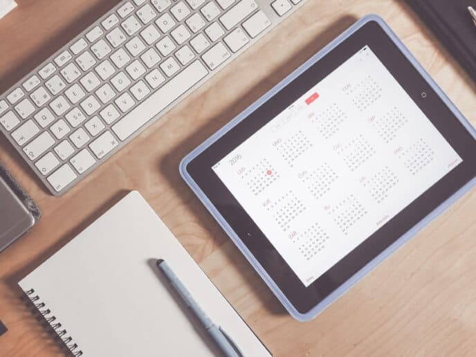 Imagem de um Calendário Financeiro digital