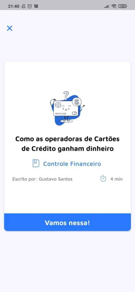 Print de tela do MobillsEdu app