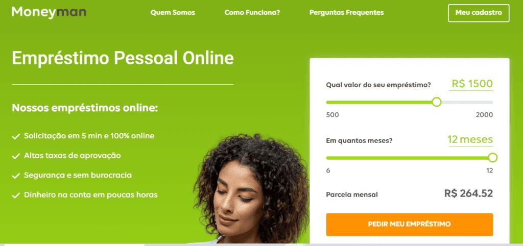 Site para contratar modalidade de crédito pessoal