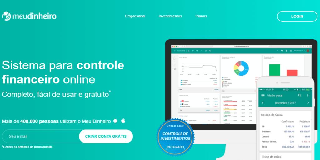 Exemplo de software de gestão financeira