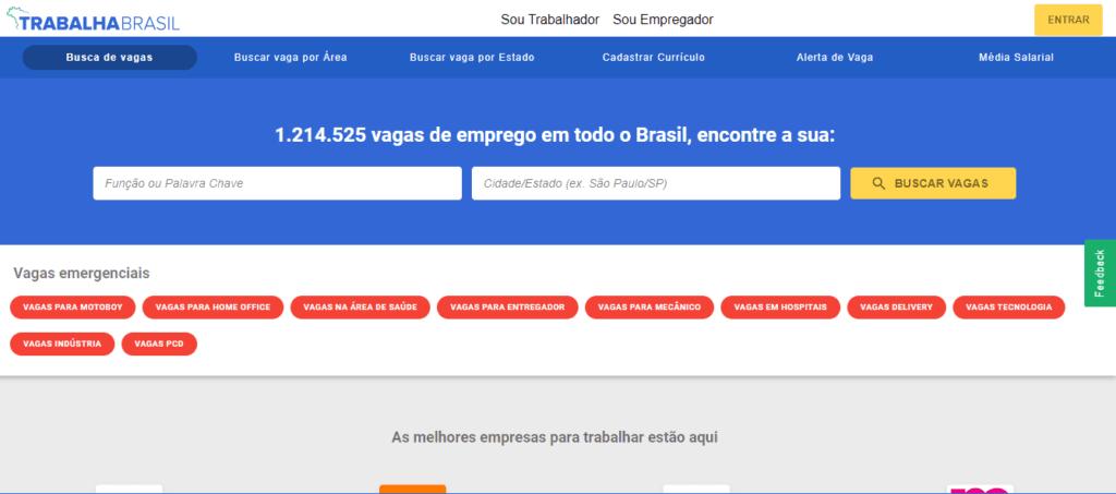 Trabalha Brasil: site de emprego