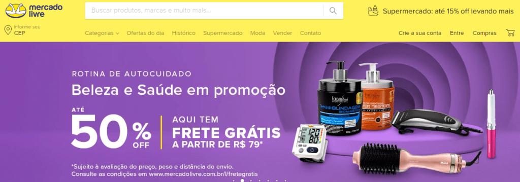 Site do Mercado Livre, opção para ganhar dinheiro