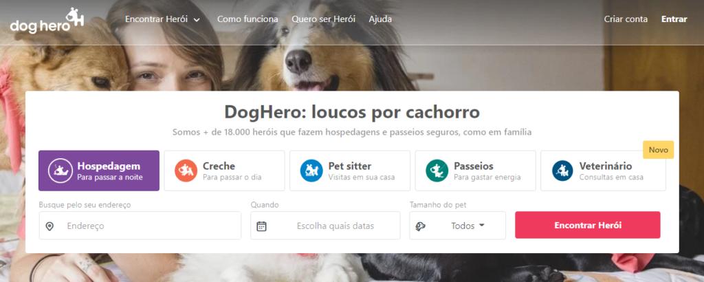 DogHero: Site para ganhar dinheiro online