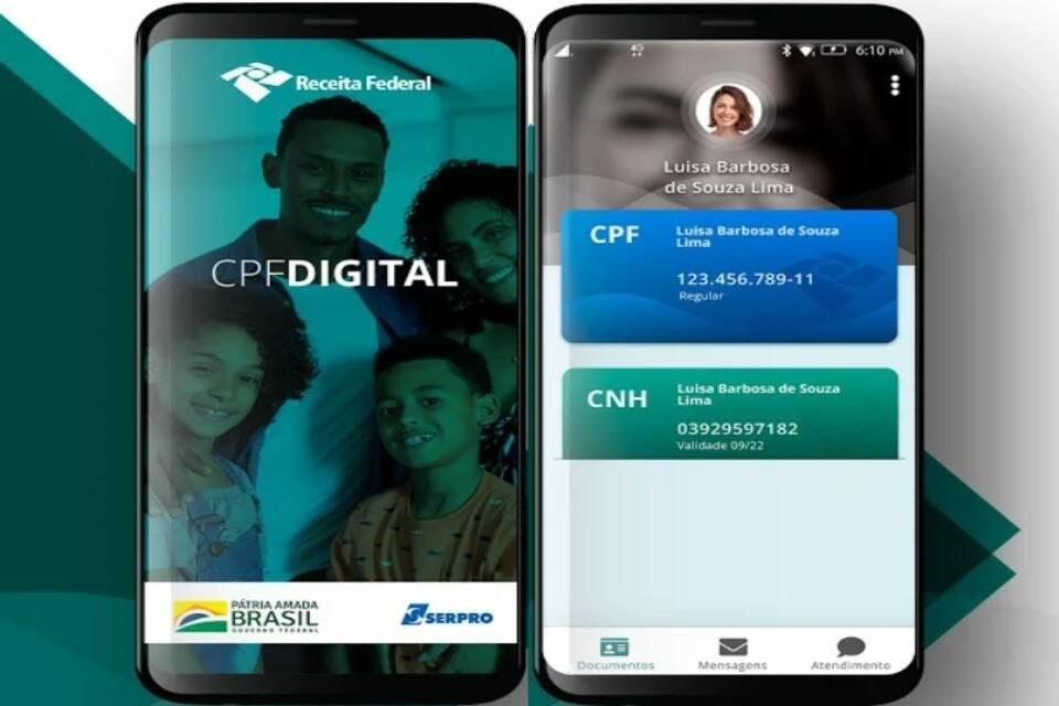 Aplicativo CPF Digital para consultar situação de CPF regular