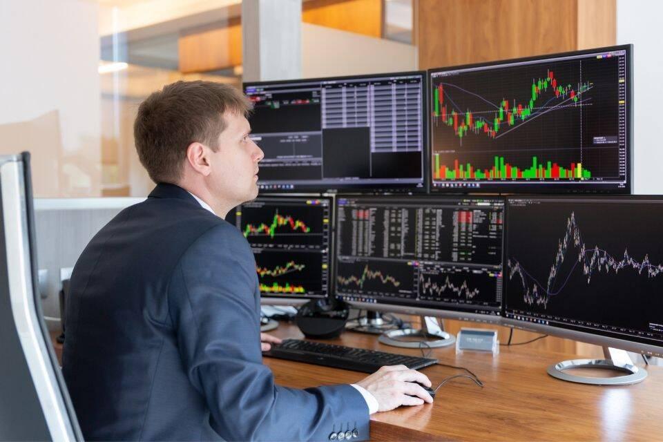 Especulador do mercado