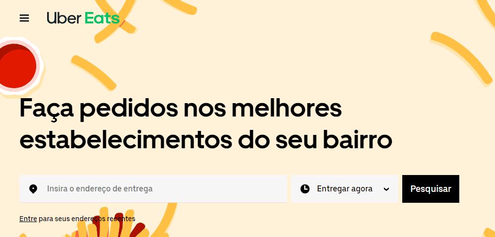 Site do Uber Eats