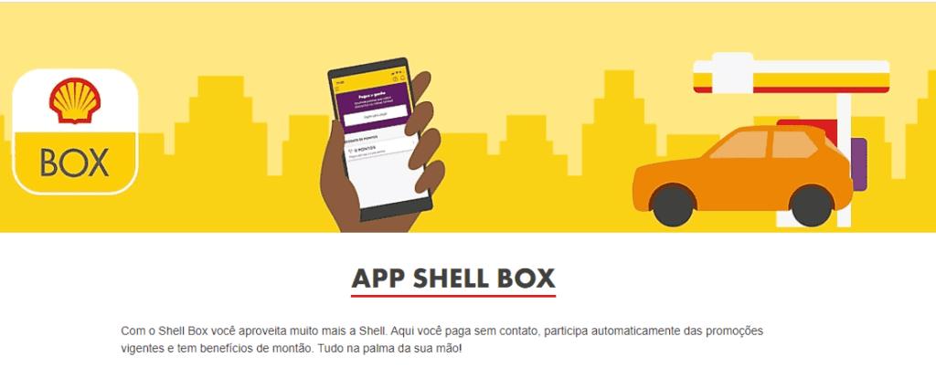 Site do aplicativo de desconto Shell Box