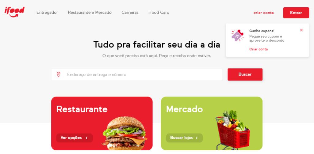 iFood: app de delivery e desconto