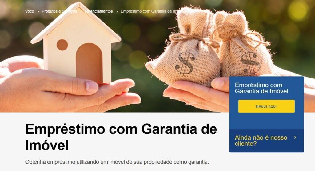 No site do BB é possível simular as condições do empréstimo com garantia de imóvel.