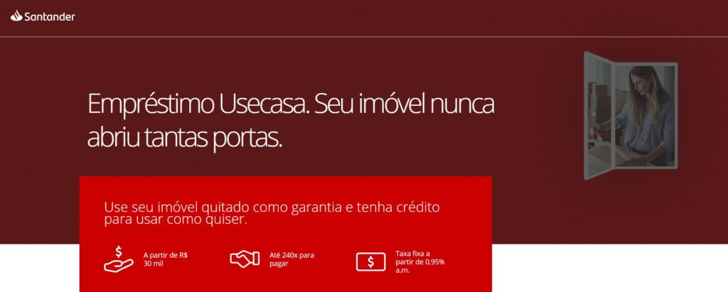 Empréstimo com garantia de imóvel Santander