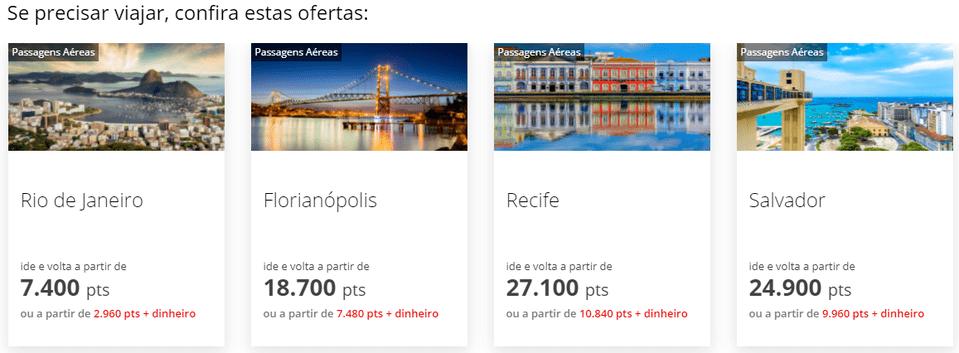 site Esfera viagens Santander